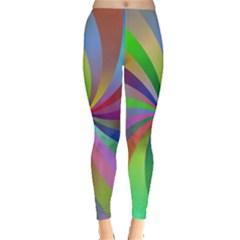 Spiral Background Design Swirl Leggings