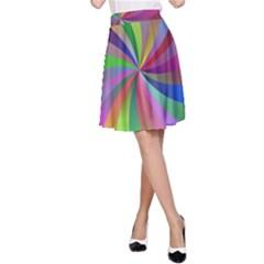 Spiral Background Design Swirl A Line Skirt