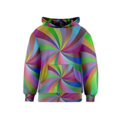 Spiral Background Design Swirl Kids  Pullover Hoodie