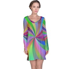 Spiral Background Design Swirl Long Sleeve Nightdress