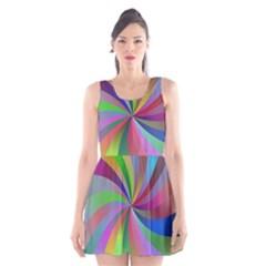 Spiral Background Design Swirl Scoop Neck Skater Dress