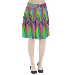 Spiral Background Design Swirl Pleated Skirt