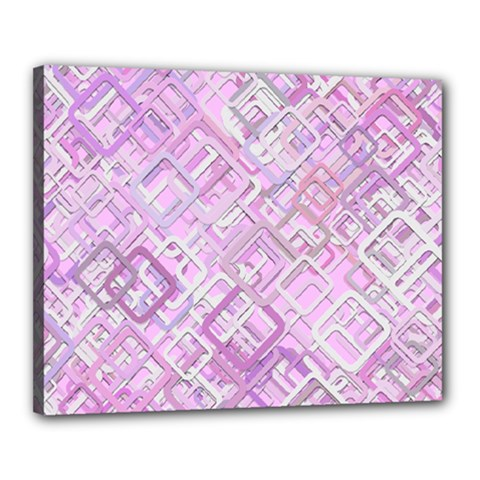 Pink Modern Background Square Canvas 20  X 16