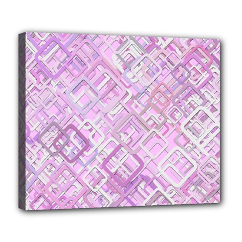 Pink Modern Background Square Deluxe Canvas 24  X 20