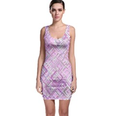Pink Modern Background Square Bodycon Dress