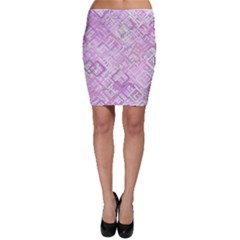 Pink Modern Background Square Bodycon Skirt