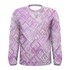 Pink Modern Background Square Men s Long Sleeve Tee