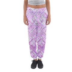 Pink Modern Background Square Women s Jogger Sweatpants