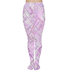 Pink Modern Background Square Women s Tights
