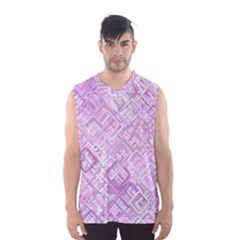 Pink Modern Background Square Men s Basketball Tank Top