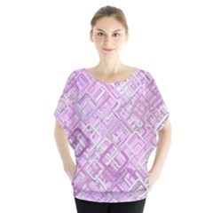 Pink Modern Background Square Blouse