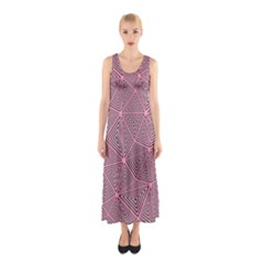 Purple Triangle Background Abstract Sleeveless Maxi Dress