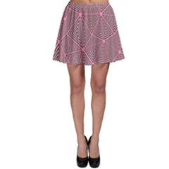 Purple Triangle Background Abstract Skater Skirt