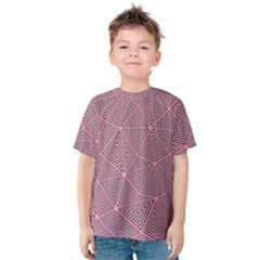 Purple Triangle Background Abstract Kids  Cotton Tee
