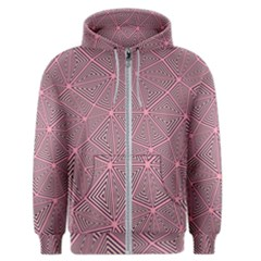 Purple Triangle Background Abstract Men s Zipper Hoodie