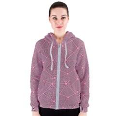 Purple Triangle Background Abstract Women s Zipper Hoodie