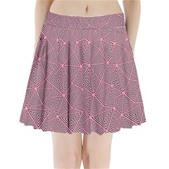 Purple Triangle Background Abstract Pleated Mini Skirt
