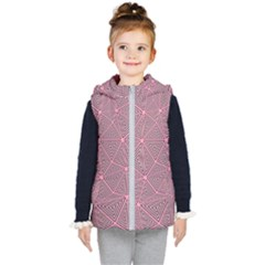 Purple Triangle Background Abstract Kid s Puffer Vest