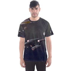 Space Travel Spaceship Space Men s Sports Mesh Tee
