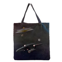 Space Travel Spaceship Space Grocery Tote Bag