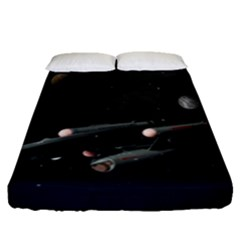 Space Travel Spaceship Space Fitted Sheet (queen Size)