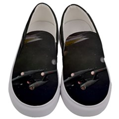 Space Travel Spaceship Space Men s Canvas Slip Ons