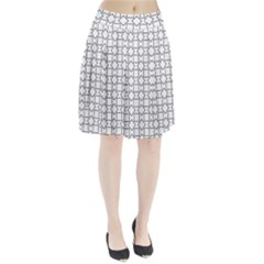 Square Line Stripe Pattern Pleated Skirt