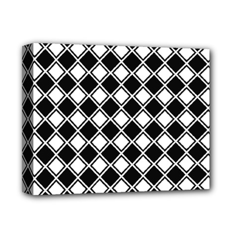 Square Diagonal Pattern Seamless Deluxe Canvas 14  X 11