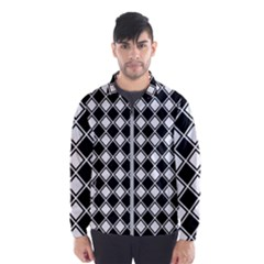 Square Diagonal Pattern Seamless Wind Breaker (men)