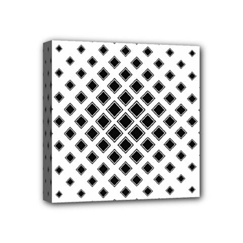 Square Pattern Monochrome Mini Canvas 4  X 4