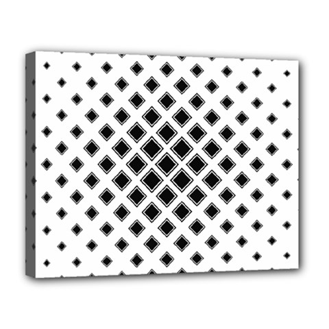 Square Pattern Monochrome Canvas 14  X 11