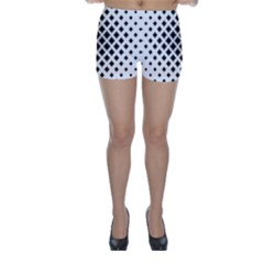 Square Pattern Monochrome Skinny Shorts