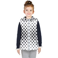 Square Pattern Monochrome Kid s Puffer Vest