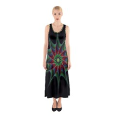 Star Abstract Burst Starburst Sleeveless Maxi Dress