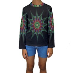 Star Abstract Burst Starburst Kids  Long Sleeve Swimwear