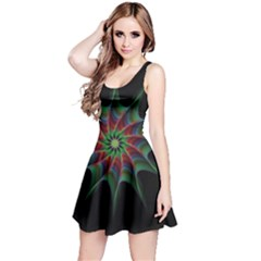 Star Abstract Burst Starburst Reversible Sleeveless Dress
