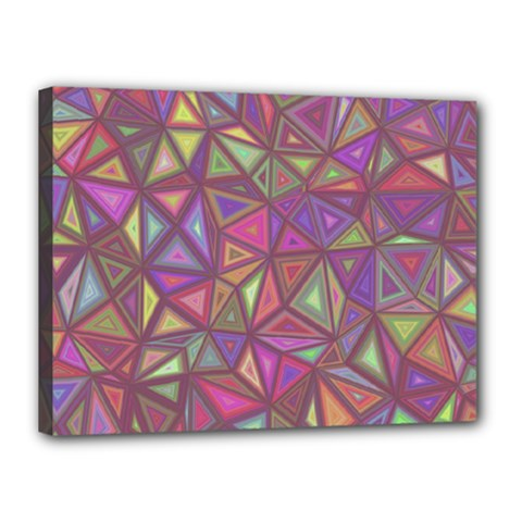 Triangle Background Abstract Canvas 16  X 12