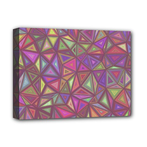 Triangle Background Abstract Deluxe Canvas 16  X 12