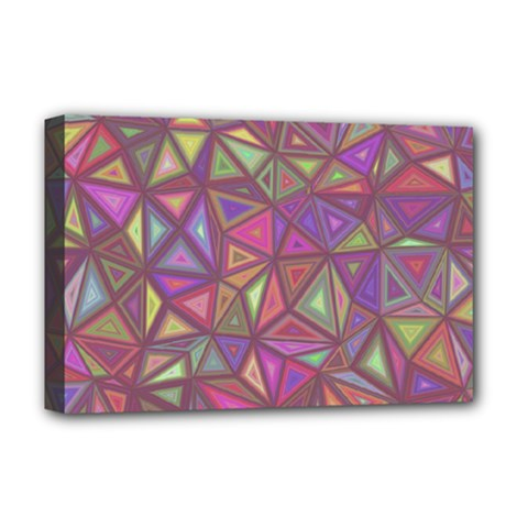 Triangle Background Abstract Deluxe Canvas 18  X 12