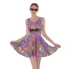 Triangle Background Abstract Skater Dress