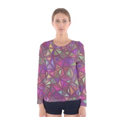 Triangle Background Abstract Women s Long Sleeve Tee