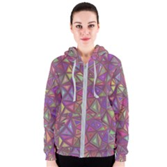 Triangle Background Abstract Women s Zipper Hoodie