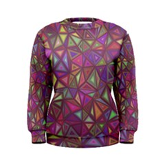 Triangle Background Abstract Women s Sweatshirt