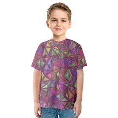 Triangle Background Abstract Kids  Sport Mesh Tee