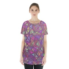 Triangle Background Abstract Skirt Hem Sports Top