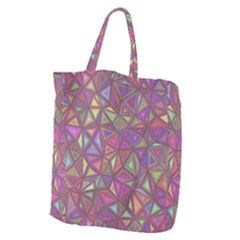 Triangle Background Abstract Giant Grocery Zipper Tote