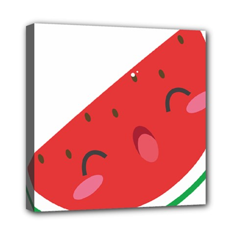 Watermelon Red Network Fruit Juicy Mini Canvas 8  X 8