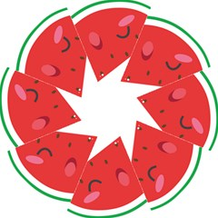 Watermelon Red Network Fruit Juicy Straight Umbrellas