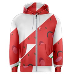 Watermelon Red Network Fruit Juicy Men s Zipper Hoodie