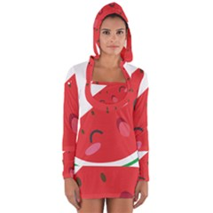 Watermelon Red Network Fruit Juicy Long Sleeve Hooded T Shirt